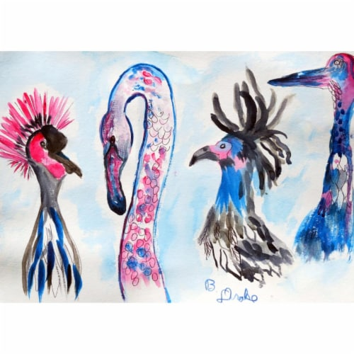 Betsy Drake PM829 Loony Birds Place Mat - Set of 4 Perspective: front