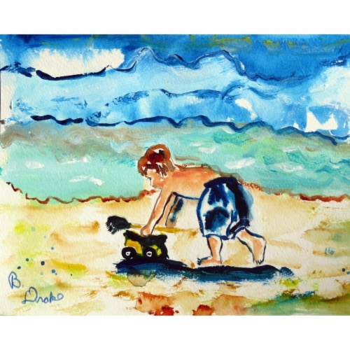 Betsy Drake PM832 Boy & Toy Place Mat - Set of 4 Perspective: front