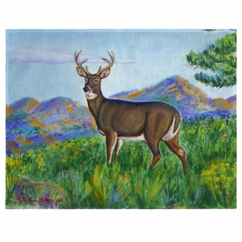 Betsy Drake PM239 Deer in Mountains Place Mat - Set of 4 Perspective: front
