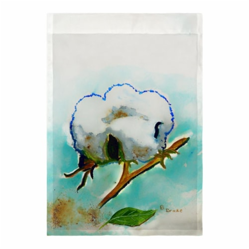 Betsy Drake FL998 Cotton Ball Flag - 12.5 x 18 in. Perspective: front