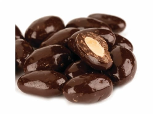 Almonds Dark Chocolate covered Almonds 5 pounds Perspective: front