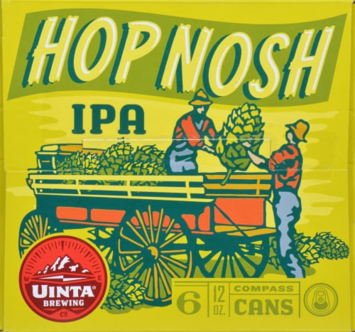 Uinta Brewing Hop Notch IPA Perspective: front