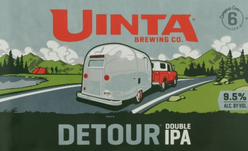 Uinta Brewing Co Detour Double IPA Perspective: front