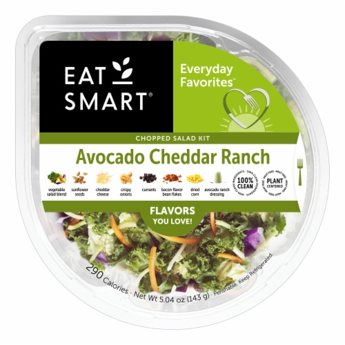 Eat Smart Avocado Cheddar Ranch Salad Bowl Perspective: front