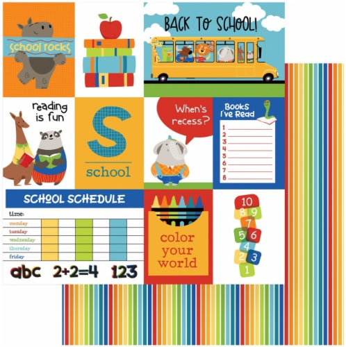 Recess Double-Sided Cardstock 12 X12 -Back To School Perspective: front