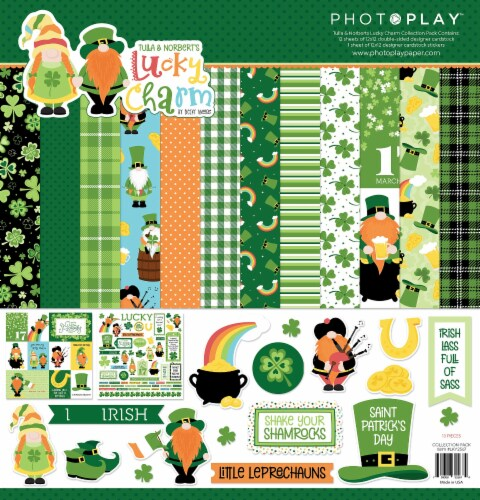 PhotoPlay Collection Pack 12 X12 -Tulla & Norbert's Lucky Charm Perspective: front