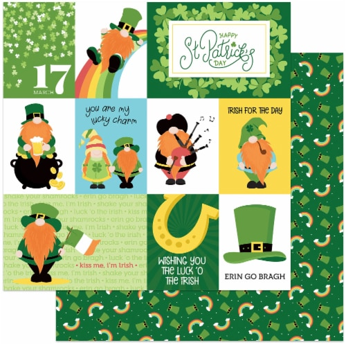 """Tulla & Norbert's Lucky Charm Double-Sided Cardstock 12""""X12""""-Luck Of The Irish Perspective: front"""