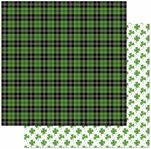 """Tulla & Norbert's Lucky Charm Double-Sided Cardstock 12""""X12""""-Bagpipes Perspective: front"""