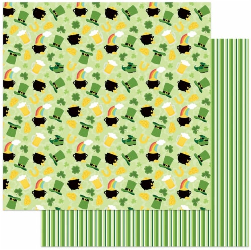 Tulla & Norbert's Lucky Charm Double-Sided Cardstock 12 X12 -Lucky Charm Perspective: front