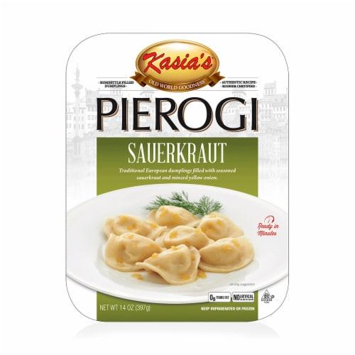 Kasia's Sauerkraut Pierogi Perspective: front