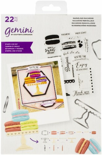 Crafter's Companion Gemini Layering Stamps & Dies-Macaroon Perspective: front