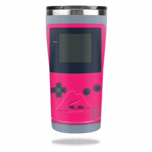 MightySkins OZTUM2017-Game Kid Pink Skin for Ozark Trail 20 oz Tumbler 2017 - Game Kid Pink Perspective: front