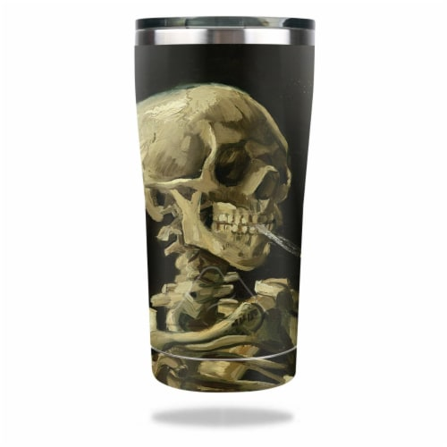 MightySkins OZTUM2017-Skull With Cigarette Skin for Ozark Trail 20 oz Tumbler 2017 - Skull wi Perspective: front