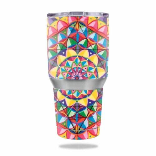 MightySkins OZTUM30-Rainbow Kaleidoscope Skin for Ozark Trail 30 oz Tumbler - Rainbow Kaleido Perspective: front