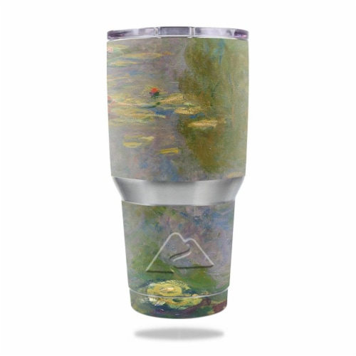 MightySkins OZTUM30-Water Lilies Skin for Ozark Trail 30 oz Tumbler - Water Lilies Perspective: front