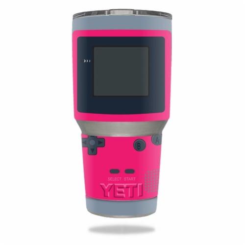 MightySkins YERAM30-Game Kid Pink Skin for Yeti 30 oz Tumbler - Game Kid Pink Perspective: front