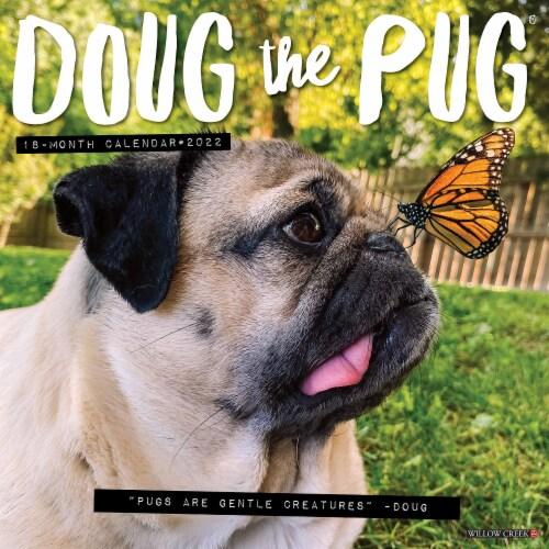 Doug the Pug 2022 Wall Calendar Perspective: front