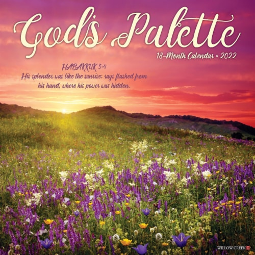God's Palette 2022 Wall Calendar (Bible Verses) Perspective: front
