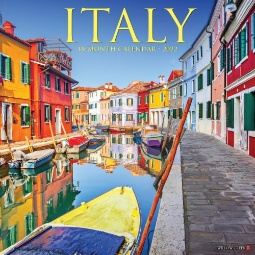 Italy 2022 Wall Calendar Perspective: front