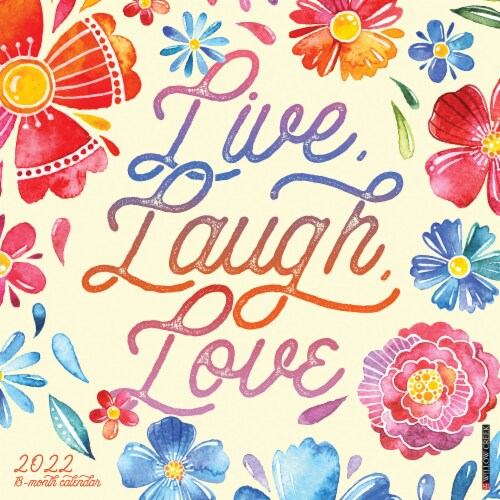 Live, Laugh, Love 2022 Wall Calendar Perspective: front