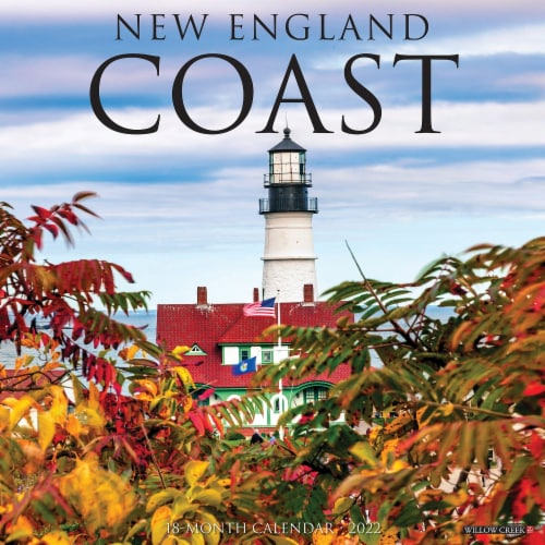 New England Coast 2022 Wall Calendar Perspective: front