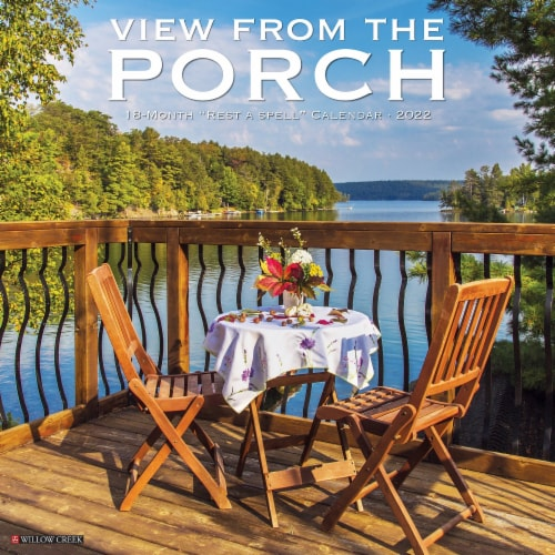 Porch View 2022 Wall Calendar Perspective: front