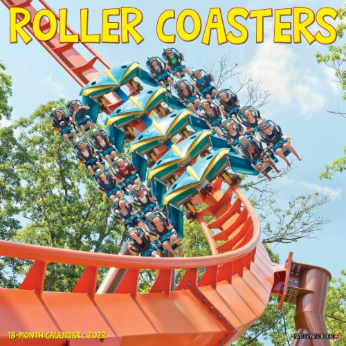 Roller Coasters 2022 Wall Calendar Perspective: front