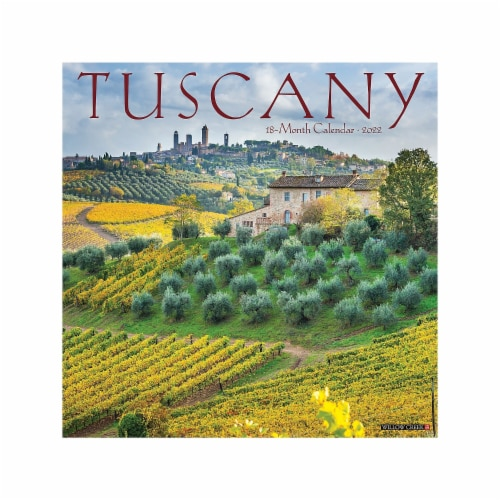 Tuscany 2022 Wall Calendar Perspective: front