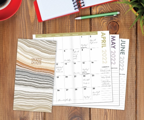 Abstract Layers  2022-23 2-year Pocket Planner Perspective: front