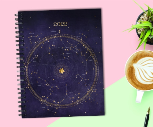Celestial 2022 8.5  x 11  Softcover Weekly Large Planner Perspective: front