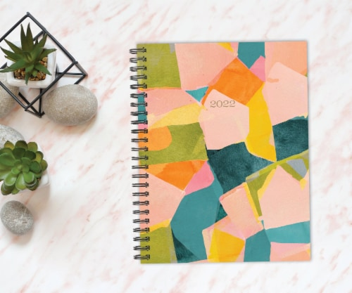 Blocked Colors 2022 6.5  x 8.5  Softcover Weekly Planner Perspective: front