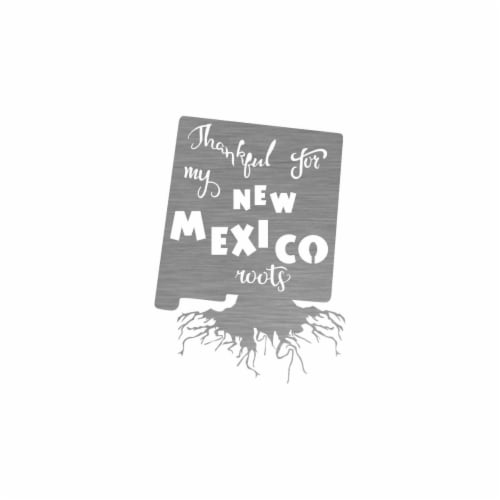 Precision Metal Art NEWMEXICOROOTS-24SS 24 in. State New Mexico Roots Steel Laser Cut Wall Ar Perspective: front