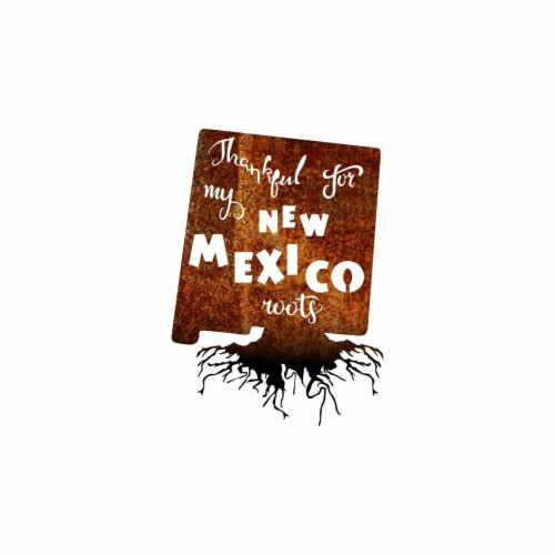 Precision Metal Art NEWMEXICOROOTS-30PAT-BLK 30 in. State New Mexico Roots Steel Laser Cut Wa Perspective: front
