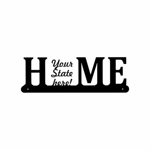 Central Coast Designs NEWMEXICOHOME-15BLK 6 x 15 in. New Mexico Home Themed Laser Cut Steel W Perspective: front