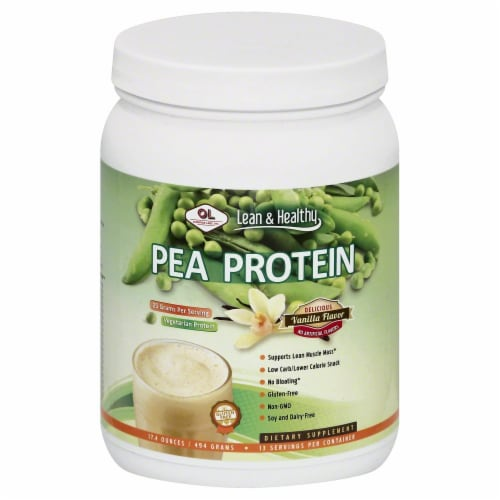 Olympian Labs Lean & Healthy Vanilla Pea Protein Perspective: front