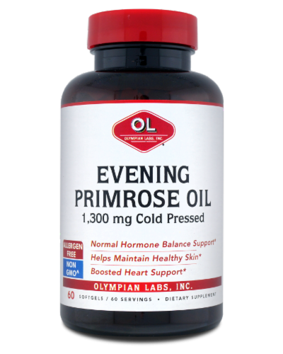 Olympian Labs Evening Primrose Oil Dietary Supplement 1300mg Perspective: front