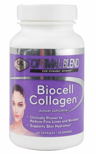 Olympian Labs Biocell Collagen Dietary Supplement Capsules Perspective: front