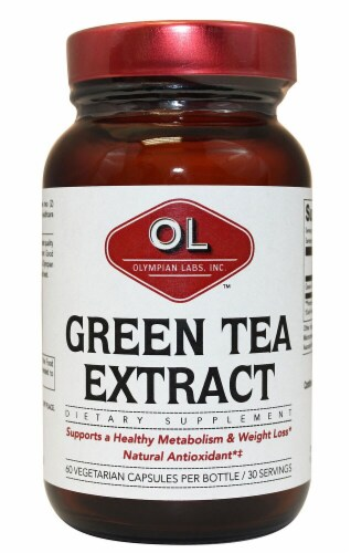 Olympian Labs  All Natural Green Tea Extract Perspective: front