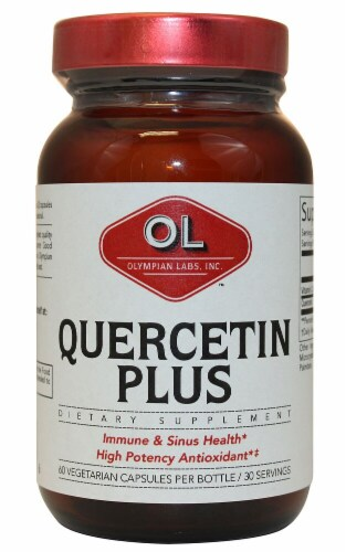 Olympian Labs Quercetin Plus Vegetarian Capsules Perspective: front