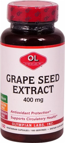 Olympian Labs Grape Seed Extract Capsules 400mg Perspective: front