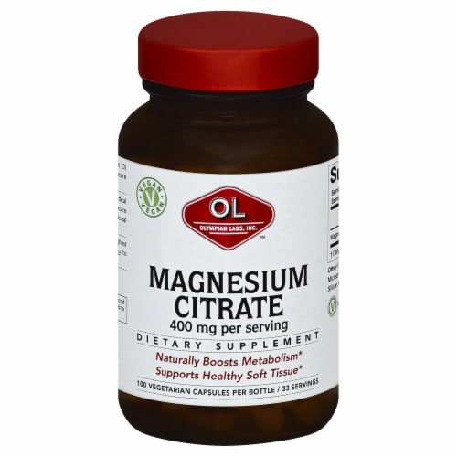 Olympian Labs Magnesium Citrate Perspective: front