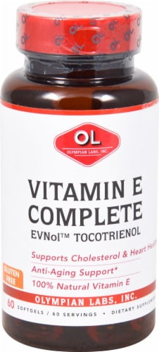 Olympian Labs  EVNol™ Tocotrientol Vitamin E Complete Perspective: front
