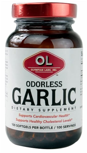 Olympian Labs  Garlic Odorless Perspective: front