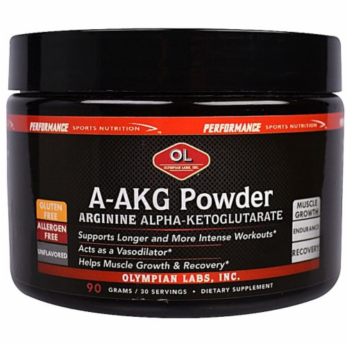 Olympian Labs  A-AKG Powder   Unflavored Perspective: front