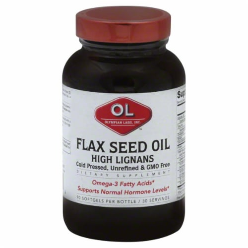 Olympian Labs High Lignan Flax Seed Oil Perspective: front
