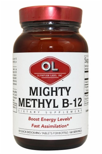 Olympian Labs  Vitamin B-12 Methylcobablamin   Fruit Punch Perspective: front