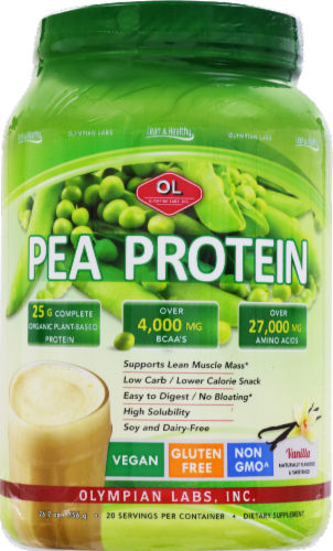 Olympian Labs Vanilla Pea Protein Perspective: front