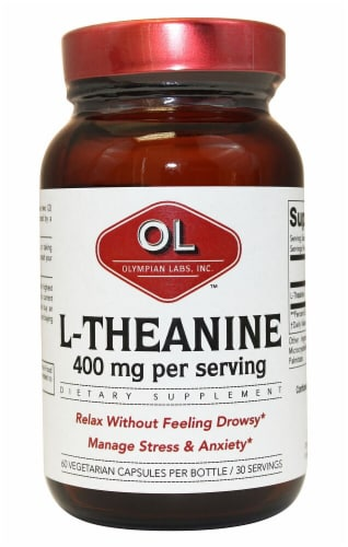 Olympian Labs L-Theanine Capsules 400mg Perspective: front