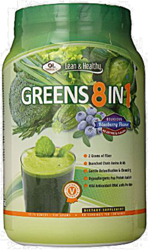 Olympian Labs Greens Protein 8 in 1 Powder Perspective: front