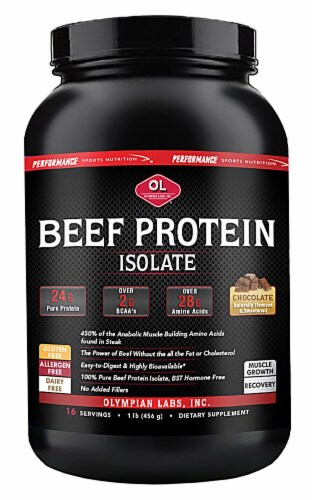 Olympian Labs  Beef Protein   Chocolate Perspective: front
